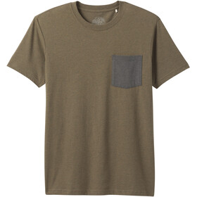 Prana Pocket Camiseta Hombre, slate green heather
